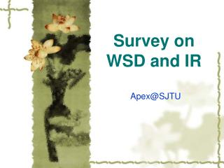 Study on WSD and IR
