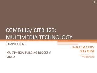 CGMB113/CITB 123: Sight and sound Innovation