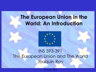 The European Union On the planet: A Presentation