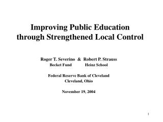 Enhancing State funded Instruction through Fortified Neighborhood Control