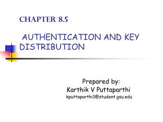 Section 8.5 Confirmation AND KEY Appropriation