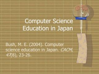 Software engineering Instruction in Japan