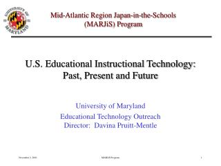 U.S. Instructive Instructional Innovation: Past, Present and Future