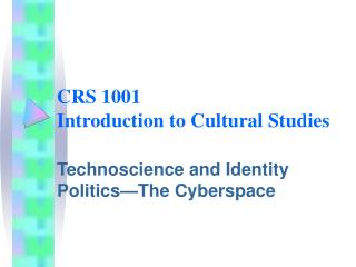 CRS 1001 Prologue to Social Studies