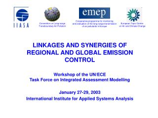 LINKAGES AND Cooperative energies OF Territorial AND Worldwide Emanation CONTROL Workshop of the UN/ECE Team on Incorpor