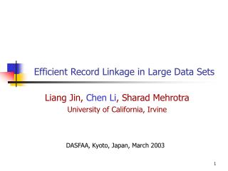 Productive Record Linkage in Extensive Information Sets