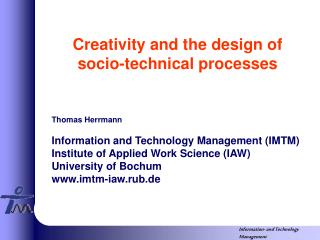 Innovativeness and the configuration of socio-specialized procedures