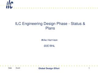 ILC Building Outline Stage - Status and Arrangements