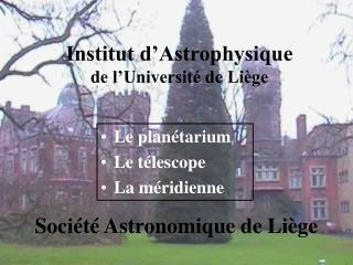 Institut d'Astrophysique de l'Universit