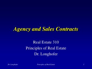 Organization and Deals Contracts