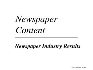 Daily paper Industry Results