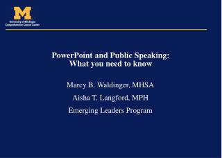 PowerPoint and Open Speaking: What you have to know