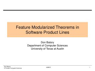 Highlight Modularized Hypotheses in Programming Product offerings
