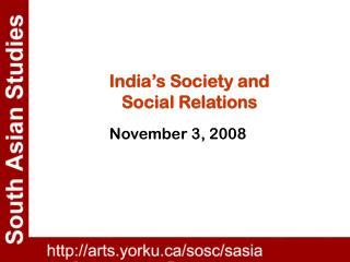 India's General public and Social Relations