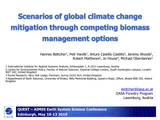 Situations of worldwide environmental change moderation through contending biomass administration choices