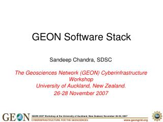 GEON Programming Stack