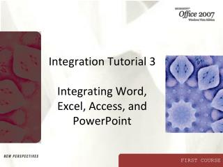 Incorporation Instructional exercise 3 Coordinating Word, Exceed expectations, Access, and PowerPoint