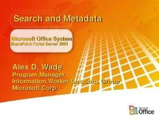 Microsoft Office Framework SharePoint Entry Server 2003