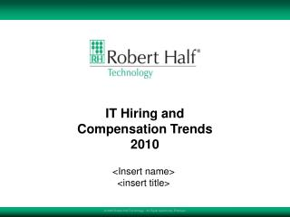 IT Contracting and Remuneration Patterns 2010