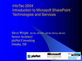 InfoTec 2004 Prologue to Microsoft SharePoint Advances and Administrations
