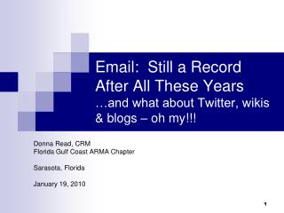 Email: Still a Record After so long