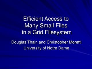 Effective Access to Numerous Little Documents in a Lattice Filesystem