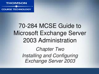 70-284 MCSE Manual for Microsoft Trade Server 2003 Organization