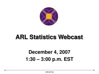 ARL Measurements Webcast
