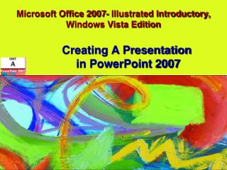 Microsoft Office 2007-Represented Early on, Windows Vista Version
