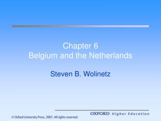 Section 6 Belgium and the Netherlands