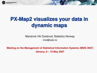 PX-Map2 envisions your information in element maps
