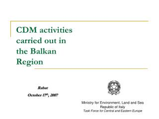 CDM exercises did in the Balkan Locale