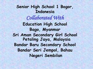 Senior Secondary School 1 Bogor, Indonesia