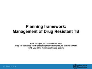 Arranging structure: Administration of Medication Safe TB