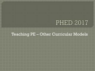 PHED 2017