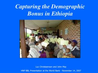 Catching the Demographic Reward in Ethiopia
