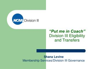 """Placed me in Mentor"" Division III Qualification and Exchanges"