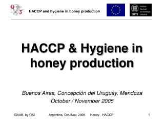 HACCP and Cleanliness in nectar generation