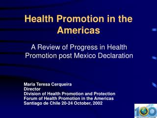 Wellbeing Advancement in the Americas