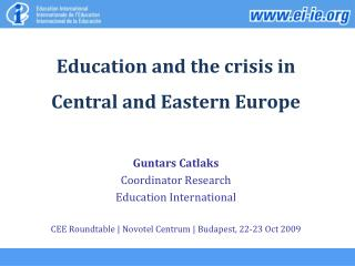 Instruction and the emergency in Focal and Eastern Europe