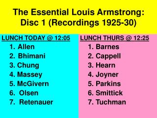 The Fundamental Louis Armstrong: Plate 1 (Recordings 1925-30)