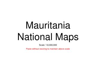 Mauritania National Maps