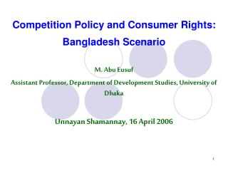 Rivalry Approach and Buyer Rights: Bangladesh Situation