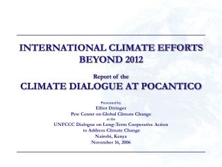 Global Atmosphere Endeavors Past 2012 Report of the Atmosphere Dialog AT POCANTICO