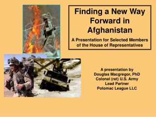 Finding Another Route Forward in Afghanistan A Presentation for Chose Individuals from the Place of Agents