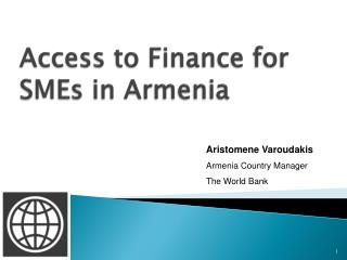 Access to Back for SMEs in Armenia