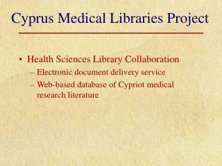 Cyprus Therapeutic Libraries Venture