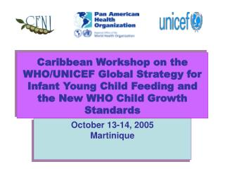 Caribbean Workshop on the WHO/UNICEF Worldwide Methodology for Newborn child Youthful Youngster Sustaining and the New W