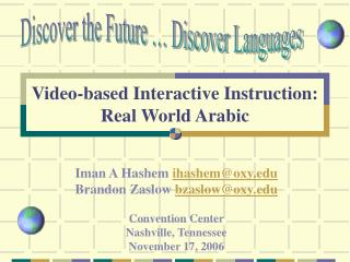 Video-based Intelligent Direction: Certifiable Arabic