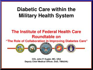 Diabetic Consideration inside of the Military Wellbeing Framework